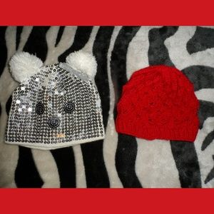 2 Hats Animal Justice Hat Sequence Knitted YOUTH